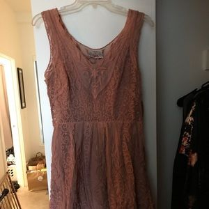 Anthropologie Lace Overlay Dress